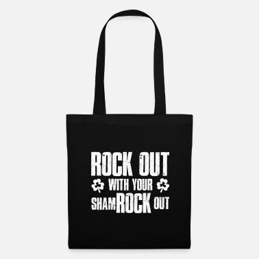 Rock Out Rock Out with your Shamrock Out - Tote Bag