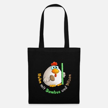 Cuddly Chicken with bamboo and mushrooms - Tote Bag