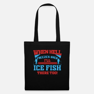 Finland Ice Fishing Fisherman Fish North Hengst Gift - Tas van stof