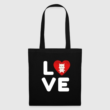 I Love LOVE West Highland Terrier Cute Dog Gift Idea - Tote Bag