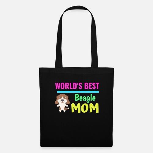 79315a494a564 Najlepsza na świecie mama Beagle - Torba materiałowa. Przód