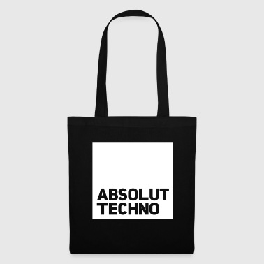 Techno absolut Techno Club Minimal Chicago DJ Vinyl Bass - Stoffbeutel