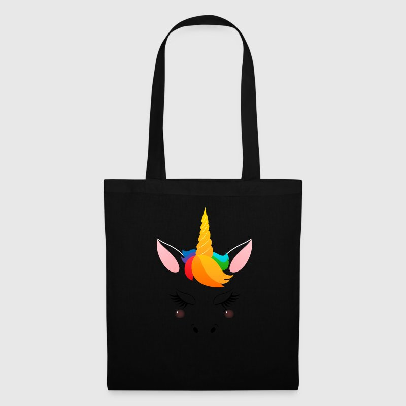 Cute Unicorn Face - Tote Bag