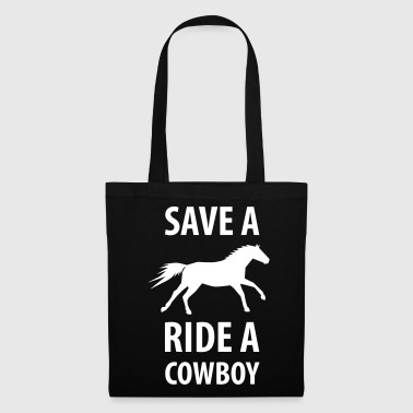 Sauver un cheval monter un cheval de cow-boy - Tote Bag