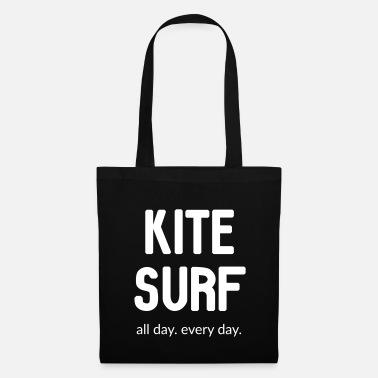 Kitesurf. All day. Every day. - Stoffbeutel