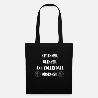 Beach Volleyball Volleyball Player Happy Stressed and Addictive - Tote Bag