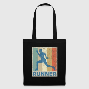 Retro Vintage Style Sprinter Jogging Running Workout - Tote Bag