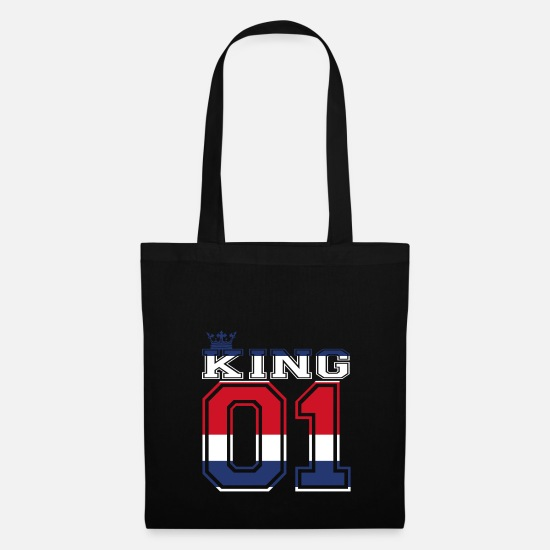 Love Bags & Backpacks - couple land king 01 prince Costa Rica - Tote Bag black