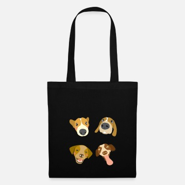 Dog Head Dogs heads - Tote Bag