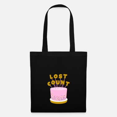 Birthday Lost Count Birthday Cake - Tote Bag