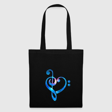 Musique Heart Clef Dancing Party Festival - Tote Bag