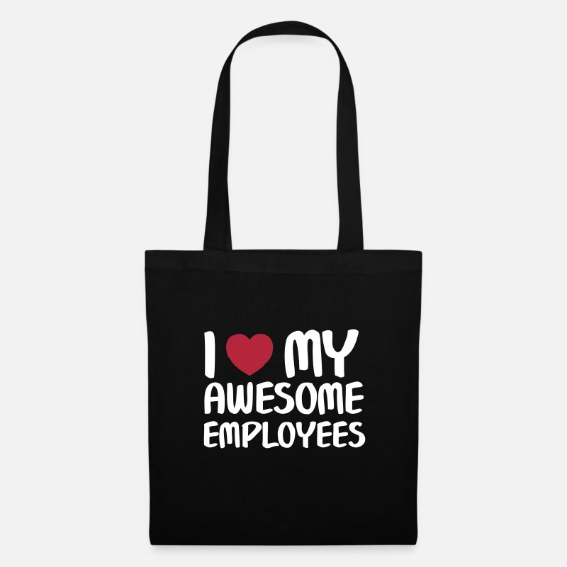 Party Bags & Backpacks - I Heart My Awesome Employees - Tote Bag black