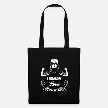 Cool I am freaking LOVE lifting weights - Tote Bag
