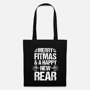 Yourself Merry Fitmas Xmas Christmas New Rear Fitness - Tote Bag