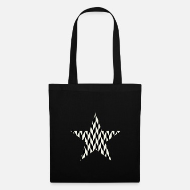 Art Deco Black - white art - deco star - Tote Bag