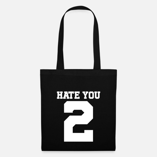 Gift Idea Bags & Backpacks - 1030037 hate you 2 white copy - Tote Bag black