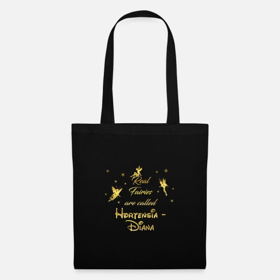 Birthday Bags & Backpacks - fairy fairies fairy first name name Hortensia Diana - Tote Bag black