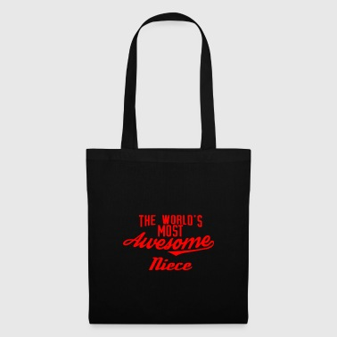 The world's most awesome Niece - red - Tote Bag