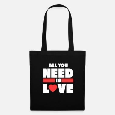 Love You All you need is love gift valentines love - Tote Bag