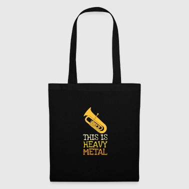 Heavy Metal tuba tubist orchestra marching band - Tote Bag
