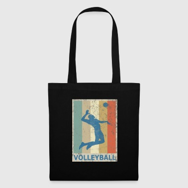 Retro Vintage Style Beach Volleyball Player - Tote Bag