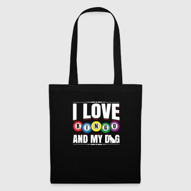 I Love Bingo And My Dog Funny Lucky Player Bingo - Tote Bag
