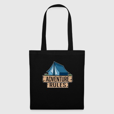 Tent Blue Adventure Camping Outdoor Gift Idea - Tote Bag