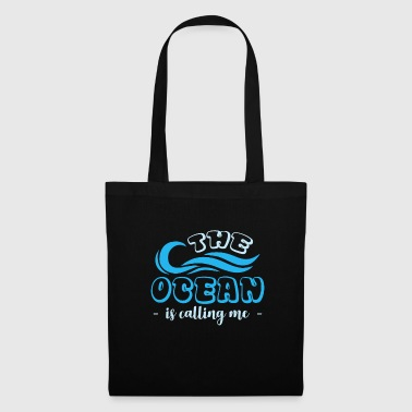 The ocean gets funny saying boat captain - Tote Bag