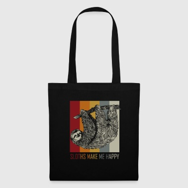 Sloths make me happy - gift idea - Tote Bag
