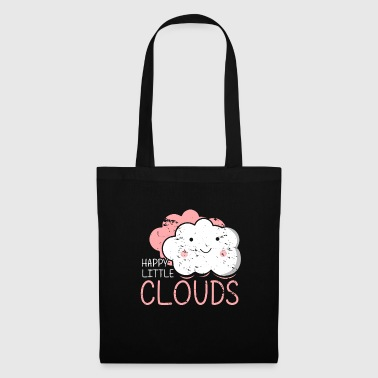 Happy Little Clouds Gift Cute kids girl - Tote Bag