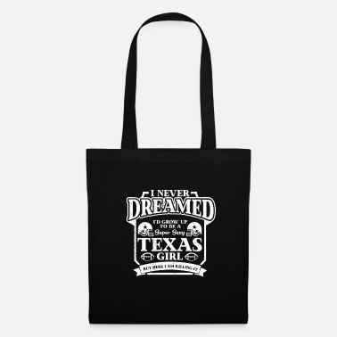 Cheerleader Camiseta American Football Girl Texas Fan - Bolsa de tela
