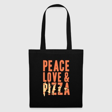Peace Love y Pizza Gift Christmas - Bolsa de tela