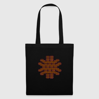Psychedelic Pattern Tee Shirt Geometry Goa Party - Tote Bag