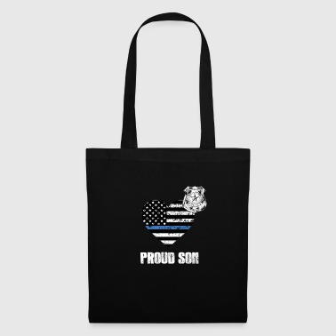 Son In Law Thin Blue Line Police Son Family Appreciation American Flag - Tote Bag