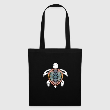 Turtle polygon gift fantasy christmas - Tote Bag