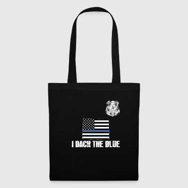 Appréciation de la police du Wyoming: ligne bleue fine - Tote Bag