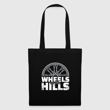 Wheels on the mountain downhill gift Dirt - Tote Bag
