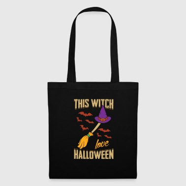 This Witch Loves Halloween Gift - Tote Bag