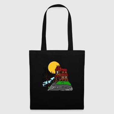 Devil Male Halloween haunted house - Tote Bag