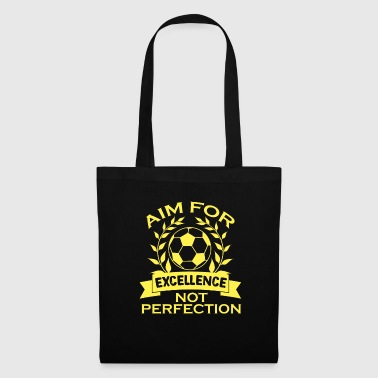 Comedy Empowerment Excellence Tshirt Design Aim for excellence - Tote Bag