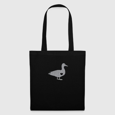 Silver I Love Ducks Silver Fowl Waterfowl Hunter Quack - Tote Bag
