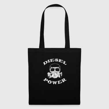 Lifting Diesel Power Gas Mask Skull Truck Offroad White Distressed - Tote Bag