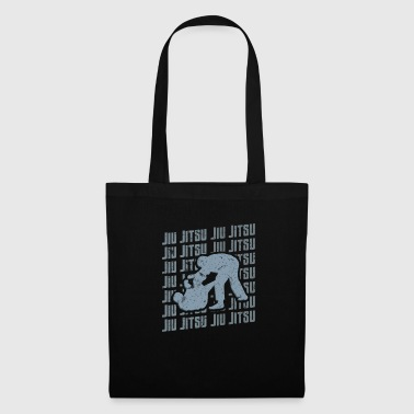 Ninjutsu Jiu Jitsu Repeat Combat Grappler Blue - Tote Bag