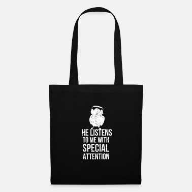 Budgie Listens to hear Special Attention I bird headphones - Tote Bag