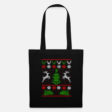 Steam Engine Railroad Trains Gift · Ugly Christmas - Tote Bag
