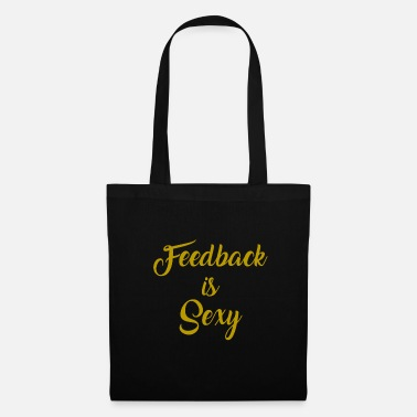 Audio Funny Feedback T-shirts Designs Le commentaire est sexy - Tote Bag
