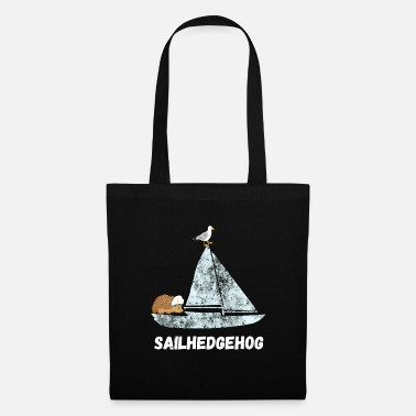 Picture Sailing hedgehog animal marine sailor sailing ship seagull - Tote Bag