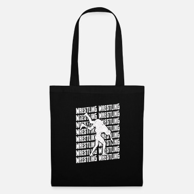 Combat Wrestling Repeat Grapple Grappling Wrestler White - Tote Bag
