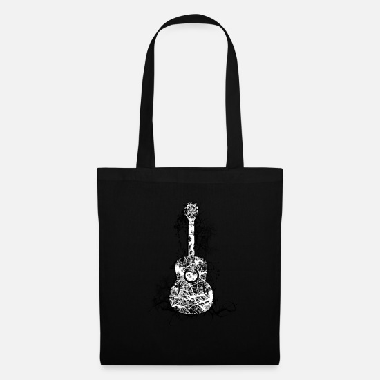 Guitar Bags & Backpacks - Rooted Guitar Patterned Artwork Guitar Player - Tote Bag black