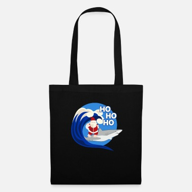Jesus Santa Claus Surfing Shark - Tote Bag